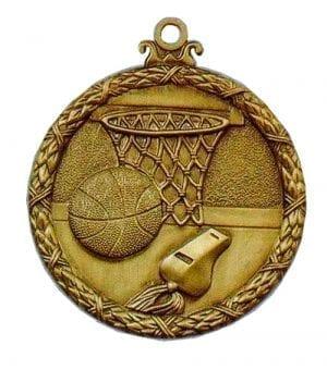 basketball antique medal