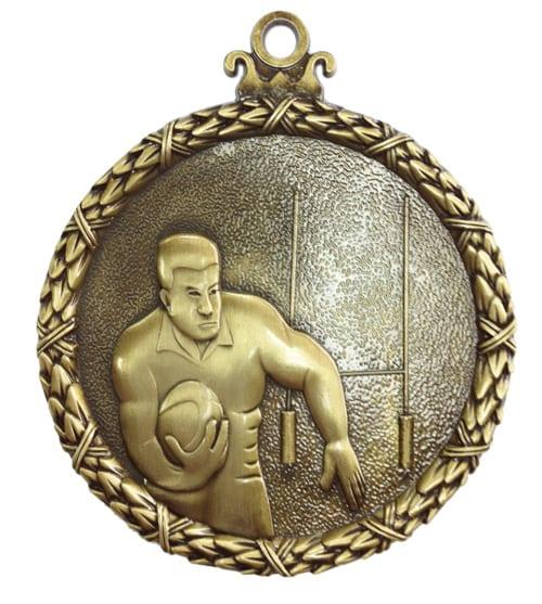 rugby antique medal