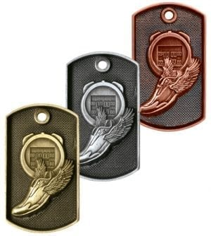 Athletics dog tag medals