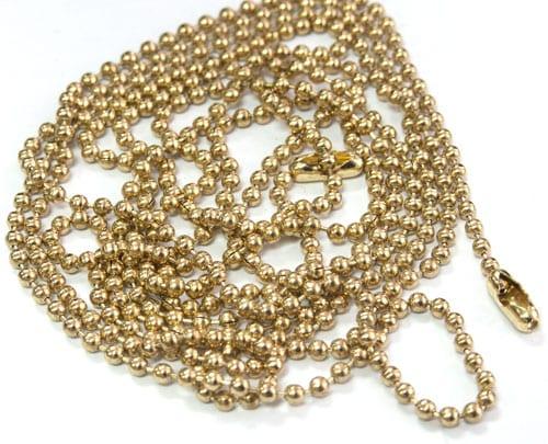 Gold ball chain