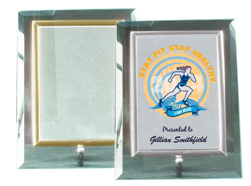 Glass Frame gold & silver